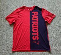 EUC Nike NFL New England Patriots Men's Logo T-Shirt Color Red Blue Size XL