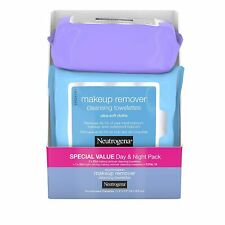 Neutrogena Day & Night Wipes with Makeup Remover Towelettes 75 count  3Pack
