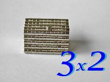 100 CALAMITE MAGNETI NEODIMIO  3x2 mm  POTENTI magnete.