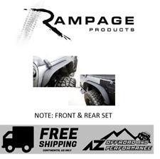 Rampage Steel Trail Fender Flare Set 07-18 Jeep Wrangler JK JKU 867981 Black