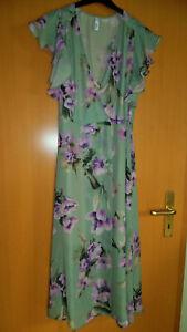 C.M. Schönes Kleid/Wickelkleid  von mango, grün botanical, Gr. M (°94)