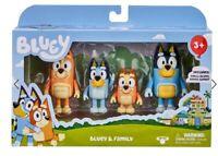Bluey & Family toys 4 PACK FIGURINE SET inc BANDIT BINGO BLUEY CHILLI -FAST POST