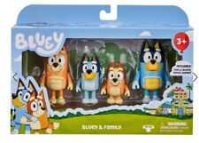 Bluey & Family toys 4 PACK FIGURINE SET inc BANDIT BINGO BLUEY CHILLI -FAST POST