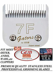 GEIB GATOR BUTTERCUT STAINLESS STEEL 7F BLADE *FitMost Oster,Wahl,Andis Clipper