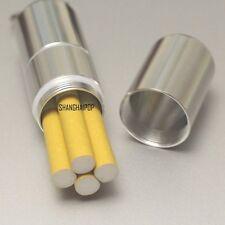 Aluminum Metal Cigarette Capsule Case Waterproof Hold 4 PCS Camping Silver 9.5cm