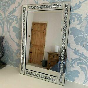40x60 Silver Diamante Wall Mirror Girls Bed Bath Room Bling Jewel Wall Mirror