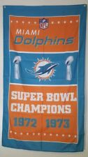 Miami Dolphins Super Bowl Flag Banner 3x5 Ft Man Cave Decor Gift NFL Football