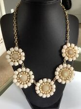 Stephan & Co Flower Statement  Necklace IVORY Cabochons From Nordstrom $24