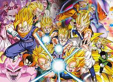 Poster A3 Dragon Ball Gohan Trunks Goten Goku Vegeta Super Saiyan 02