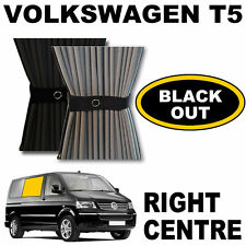 BLACK OUT - VW T5 Curtain Kit  - Right Centre VWT5 Campervan Curtains
