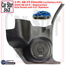"Custom Autosound KCHV-68/2A-PIO Kick Panels&6.5"" Spkrs 68-72 Chevelle w/ A/C"