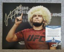 Khabib Nurmadomedov UFC signed 8x10 photo coa beckett Bas #t15765 autographed