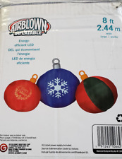 Gemmy 8ft Christmas Ornaments Inflatable