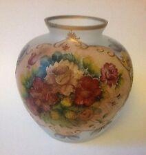 "Vintage FRANCE Large Vase Sign - Le Mans - Hand Painted 14"" high. GORGEOUS!!!"