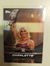 2016 Topps WWE Divas Revolution NXT Women's Champions Silver /50 CHARLOTTE