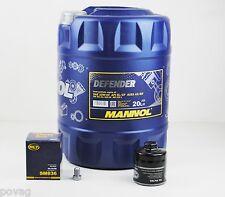 20 Liter Mannol 10W-40 Defender Motoröl mit Ölfilter VW Golf 3 Polo 6N 86C