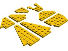 LEGO Wing Wedge Plates x8 Yellow Plane Jet Space Shuttle City Airport Star Wars