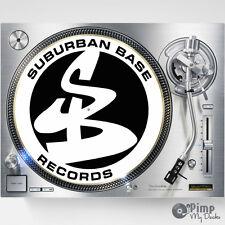 SUBURBAN BASE / SUB BASE DJ SLIPMATS / SLIP MATS X 2 - TECHNICS STANTON VESTAX