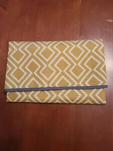 Baby Diaper Changing Mat Yellow Tan White Keep Babies Clean & Safe Shower Gift