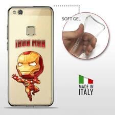 Huawei P10 Lite TPU CASE COVER GEL PROTETTIVA TRASPARENTE DC MARVEL Iron Man