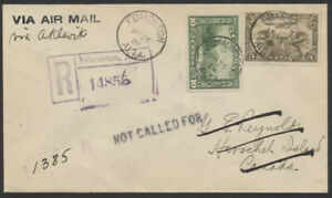 1930-31 Registered Cover Twice Mailed to Herschel Island NWT - Yukon, Unusual!