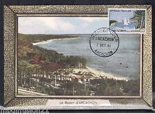1961 - FDC CARTE  1°JOUR - LE BASSIN D'ARCACHON - OBL.ARCACHON - TIMBRE Yt.1312