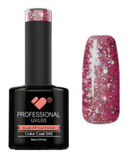 048 linea VB DARK ROSE ROSA Argento Glitter-Smalto Gel-Smalto Gel Super