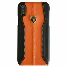 LAMBORGHINI Huracan D1 Leder iPhone X, iPhone Xs Schutzhülle Back Case Orange