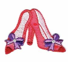 Shoes Red/Purple Hat Society Pumps/High Heels Iron on Applique/Embroidered Patch