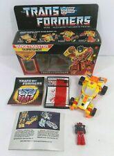 TRANSFORMERS G1 TARGETMASTER SURESHOT COMPLETE W/BOX, PAPERWORK 1987 HASBRO