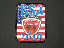 2010 National Jamboree Virginia Department of Forestry Patch         PKS