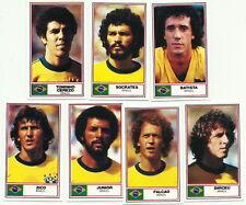 BRAZIL ROTHMANS Football International Stars 1984 CIGARETTE CARDS x 7