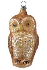 Marolin Owl MA2011033 German Glass Ornament w/Gift Box