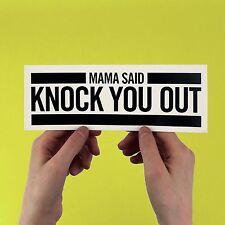 Mama Said Knock You Out, LL Cool J Sticker! 80s 90s hip hop, Dr Dre, Run D.M.C.