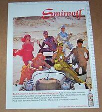 1968 print ad - Rudi Gernreich fashions for Smirnoff Vodka vintage Advertising
