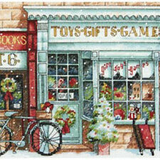 "6""X6"" 18 Count - Gold Petite Toy Shoppe Counted Cross Stitch Kit"