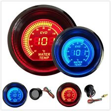 "HS Red & Blue 2"" 52MM Digital LED EVO Water Temperature Gauge Meter US Shipping"