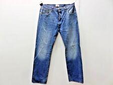 Levis 501 DENIM JEANS STRAIGHT LEG BLUE Mens W36 L34 VINTAGE 501s Grade B M144