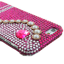 For iPhone 6 Bling Diamond Rhinestone Hard Snap On Case+Tempered Glass Screen