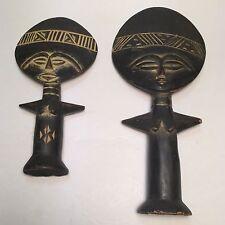 2 African Fertility Dolls Made In Ghana. Home-decor,Tribal,wood Mask