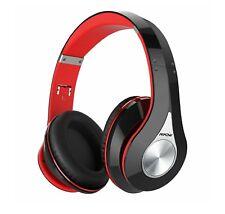 Mpow 059 Bluetooth Headphones Over Ear, Hi-Fi Stereo Wireless Headset (Red)