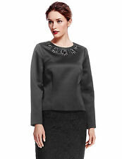 Marks and Spencer Women's Long Sleeve Sleeve Waist Length Tops & Shirts