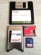 Adaptador PCMCIA + SD CF Tipo I SDHC controladores + + Tarjeta SD de 16GB-amiga 600 1200