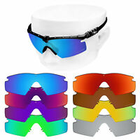 OOWLIT Replacement Lenses for-Oakley Si M Frame 2.0 Etched Polarized Sunglasses