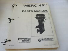 Pm80 1983 Mercury Quicksilver 40 Parts Catalog Manual P/N 90-90627