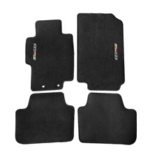 For 04-08 Acura Tsx Floor Mats Carpets Front & Rear Nylon Black w/ Mugen (Fits: Acura Tsx)