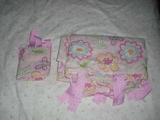 Pottery Barn Kids Twin Duvet Cover & Matching Pillowcase - Pink Yellow Flowers