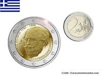 2 Euros Commémorative Grèce 2019 Andreas Kalvos UNC