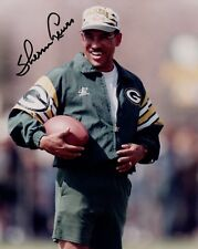 AUTOGRAPHED 8x10 Color Photo of Sherm Lewis - Green Bay Packers - Michigan State
