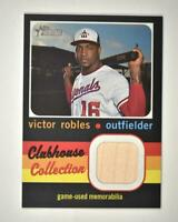 2020 Heritage High Number Clubhouse Collection BAT Relic #CCR-VR Victor Robles